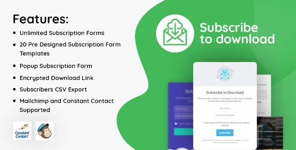 Subscribe to Download v1.2.2 - An advanced subscription plugin for WordPress